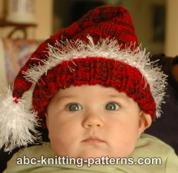 ABC Knitting Patterns - Santa Baby Hat
