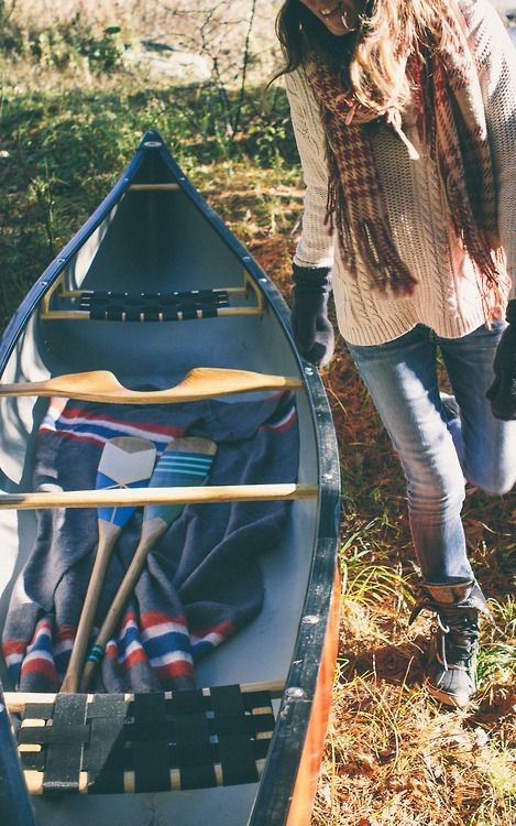Canoe, paddle, blankets and a cute outfit...now just add water!