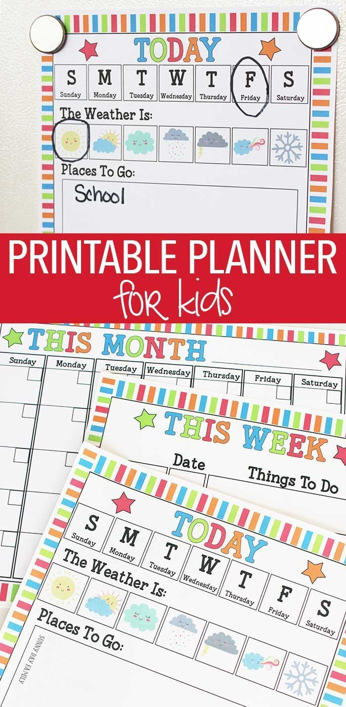 Classroom Schedule Ideas ~ Rock your routine with a printable planner for kids