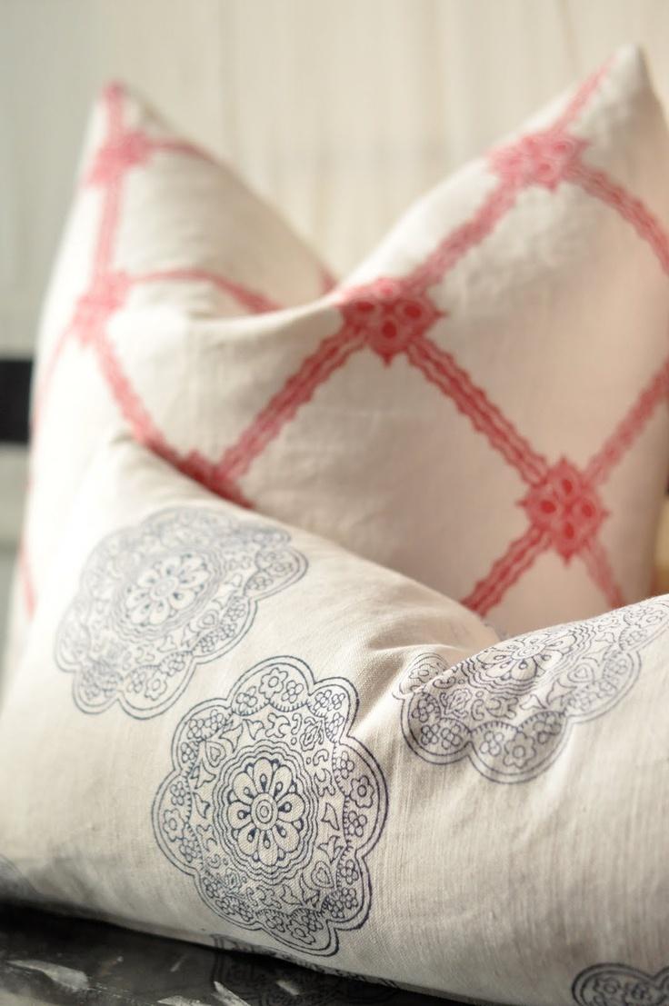 beachy  pillows # caitlan wilson design