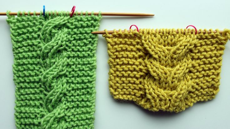 Knit two-sided cables - Knitting tutorial. Reversible cables.