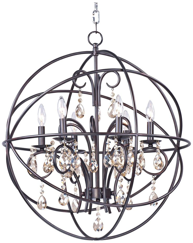"Maxim Orbit 25"" Wide Oil-Rubbed Bronze Orb Chandelier"