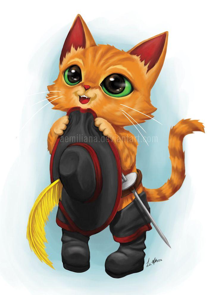 Картинки с котом в сапогах, глаза