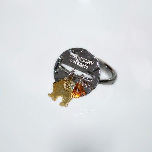 Battiquore Milano | Anello in argento 925 Citrino naturale del Rio Grande Do Sul (Brasile)