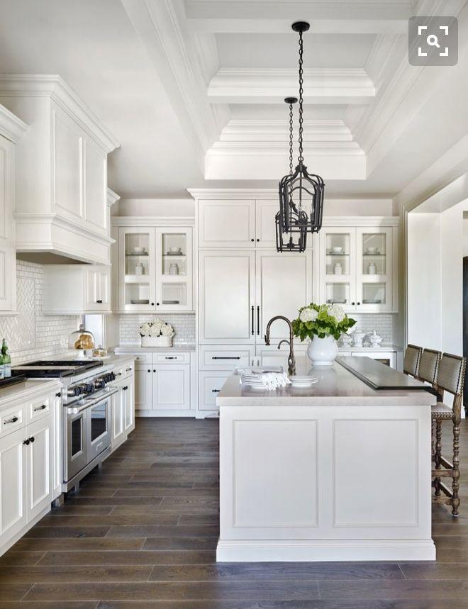 White Kitchen Dreams Whitekitchen Kitchenideas Kitchendesign Dreamkitchen Farmhouse Kitchen Design White Kitchen Design Gorgeous White Kitchen