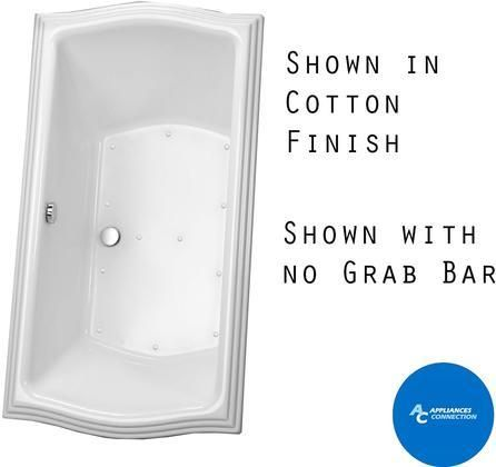 ABR781S#12YCP Clayton Series Drop-In Airbath Tub with Cast Acrylic Construction Slip-Resistant Surface and Polished Chrome Grab Bar Beige Finish