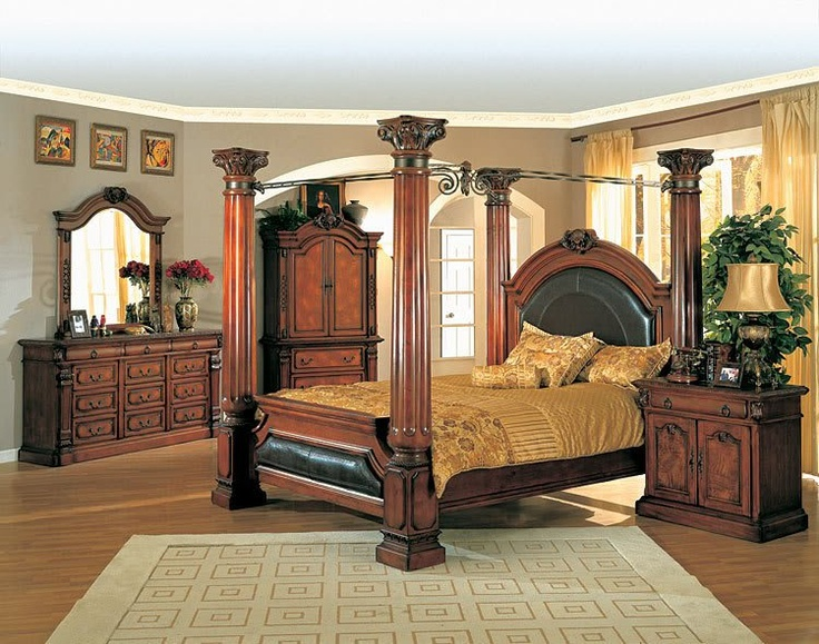 Canopy Bedroom Sets For Sale On Montecito Canopy Bed Furniture Bedroom Set  King New For Sale