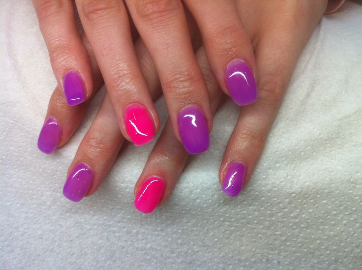 Pink and Purple Water Marble Design Nail Art Tutorial ...  Purple And Pink Nails