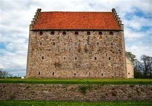 of the medieval Glimmingehus castle in the Skane region of Sweden