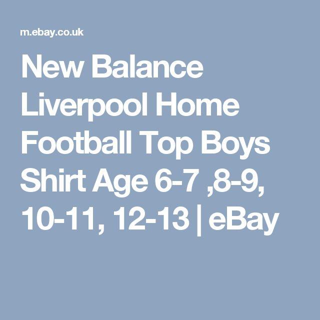 New Balance Liverpool Home Football Top Boys Shirt Age 6-7 ,8-9, 10-11, 12-13  | eBay