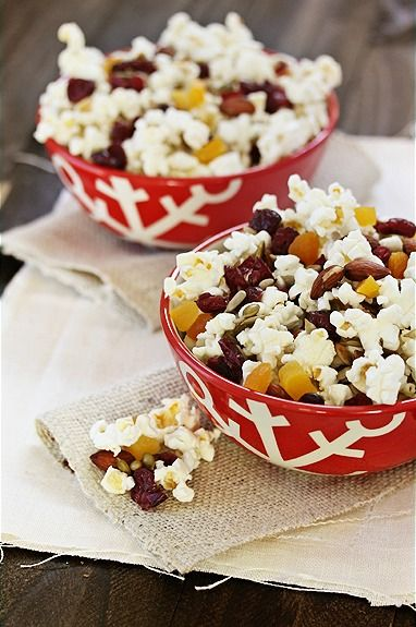 This popcorn trail mix is the perfect sweet and salty snack for after school. Or try it on movie night to satisfy your munchies, without feeling guilty about it.