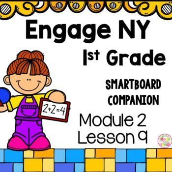 This is a SmartBoard activity that directly correlates with the 1st Grade Engage NY Math Module 2 Lesson 9 (Compare efficiency of counting on and making ten when one addend is 8). This lesson includes activities and games for the lesson  Check out the Module 2 bundle here Module 2 Bundle