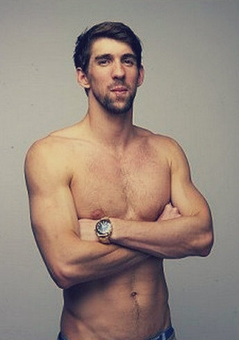 I know Ryan Lochte is the new Olympian heart throb, but I just adore Michael Phelps.  I would eat 6,000 calories in a sitting with him any day.