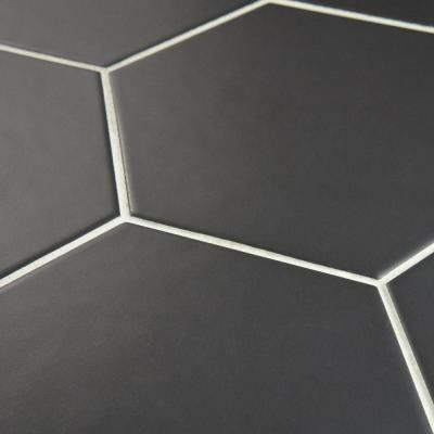 SD Royal Black Hexagon Matte Tile 5x5 (shipping charges apply)