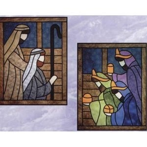 Wisemen & Shepherds Stained Glass Quilt Pattern - The Virginia Quilter