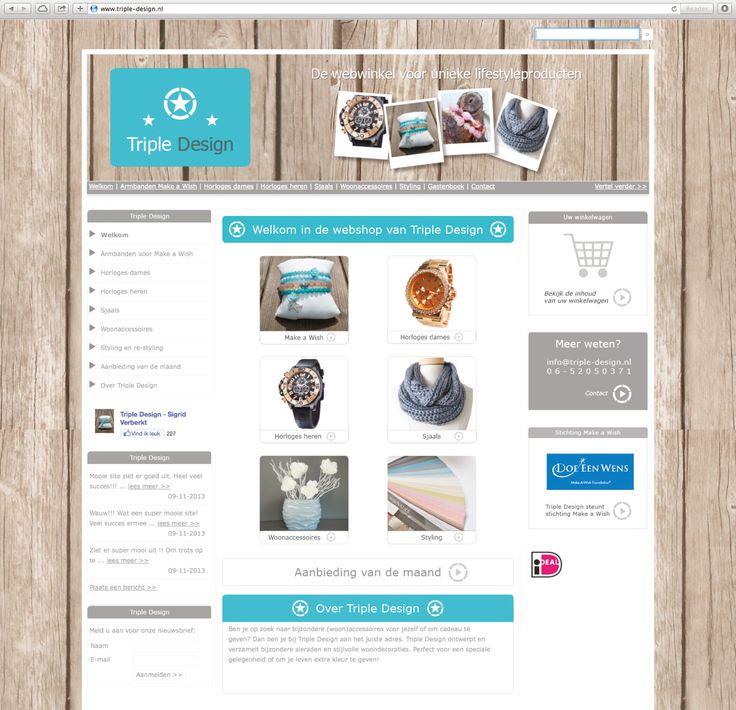 In opdracht van Triple Design heeft Logisch! Communicatie & Tekstproducties de webshop van de lifestylespecialist uit Beek compleet gerestyled. #webdesign #logodesign #tekst