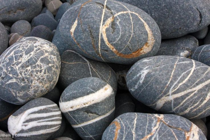 Pebbles at Millook Haven, Cornwall