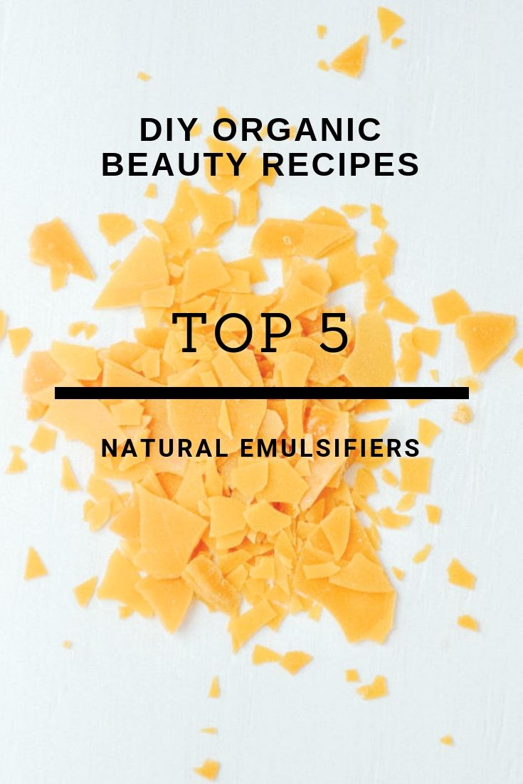 Top 5 Natural Emulsifiers in DIY beauty products Cosmetic