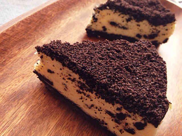 オレオのクリームチーズケーキ 大人気の某カフェ,ス○バの人気メニュー クリームチーズケーキをリアル再現!!!