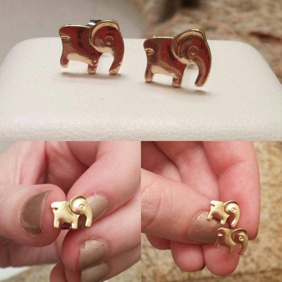 Check out this item in my Etsy shop https://www.etsy.com/ca/listing/459063724/adorable-elephant-studs