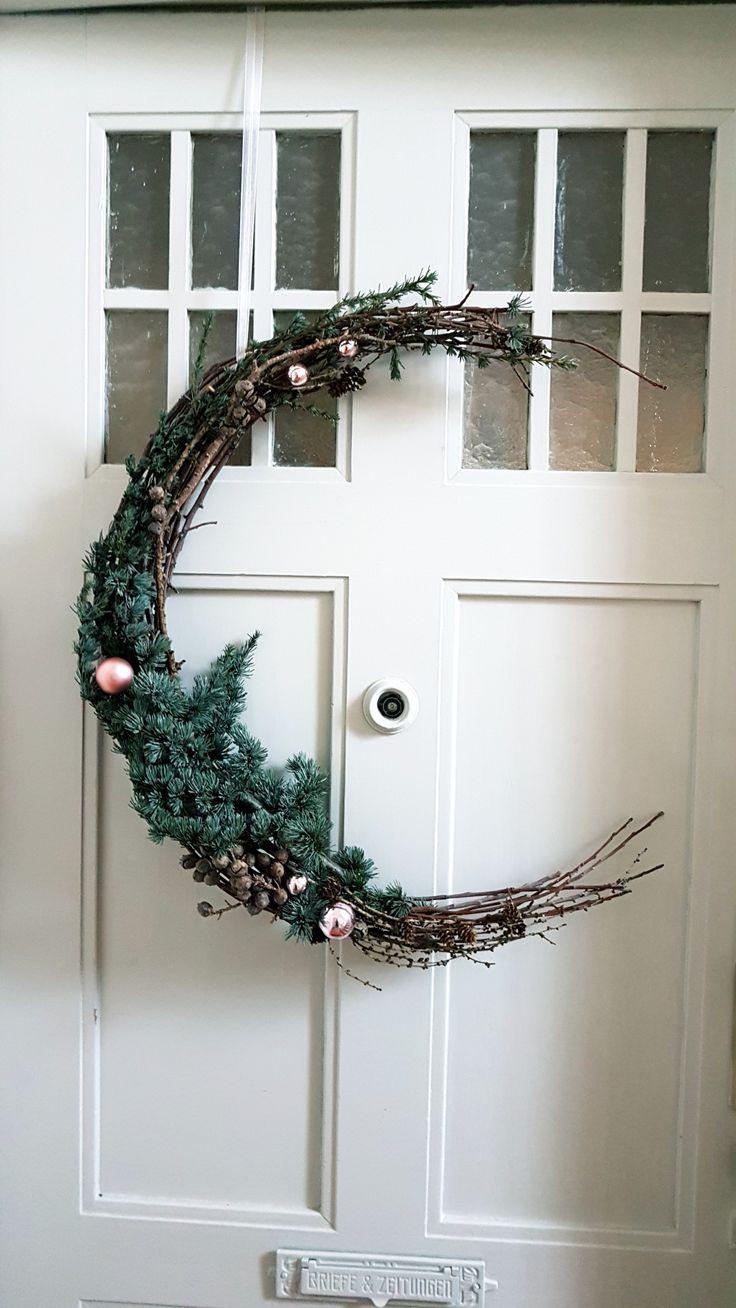 Weihnachtliche Türdeko von Nadin – #ecke #Nadin #…