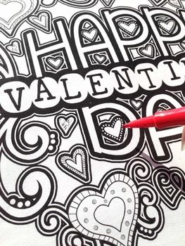 170 best Valentines Day ideas images on Pinterest | Adult coloring ...