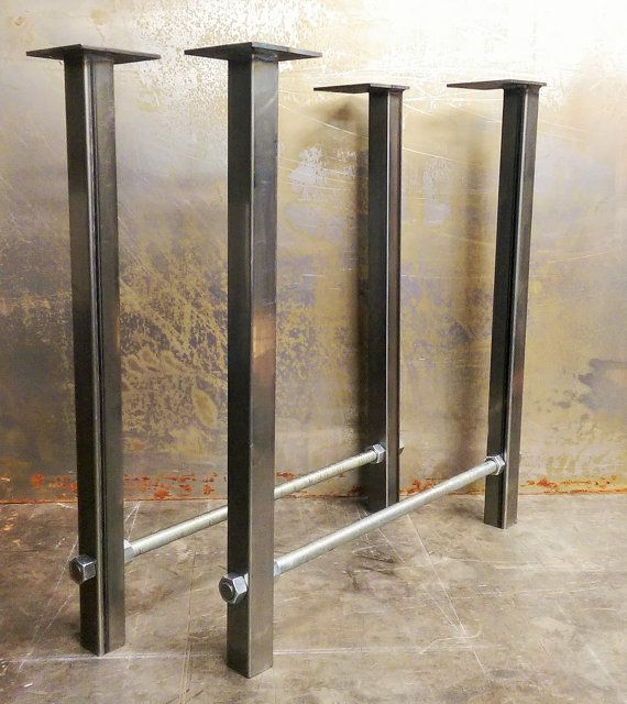 Contemporary Steel Table Legs With A Industrial Twist The Use Of Threaded Rod And