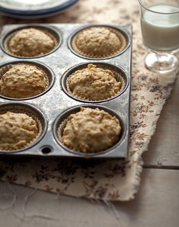 Muffins au gruau & aux pommes - Recette | Trois fois par jour