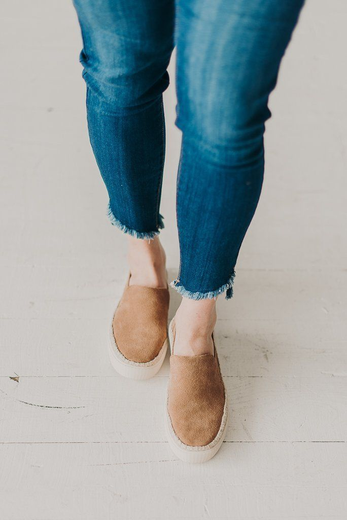 Toms Suede Sunset Slip-Ons- Toffee in