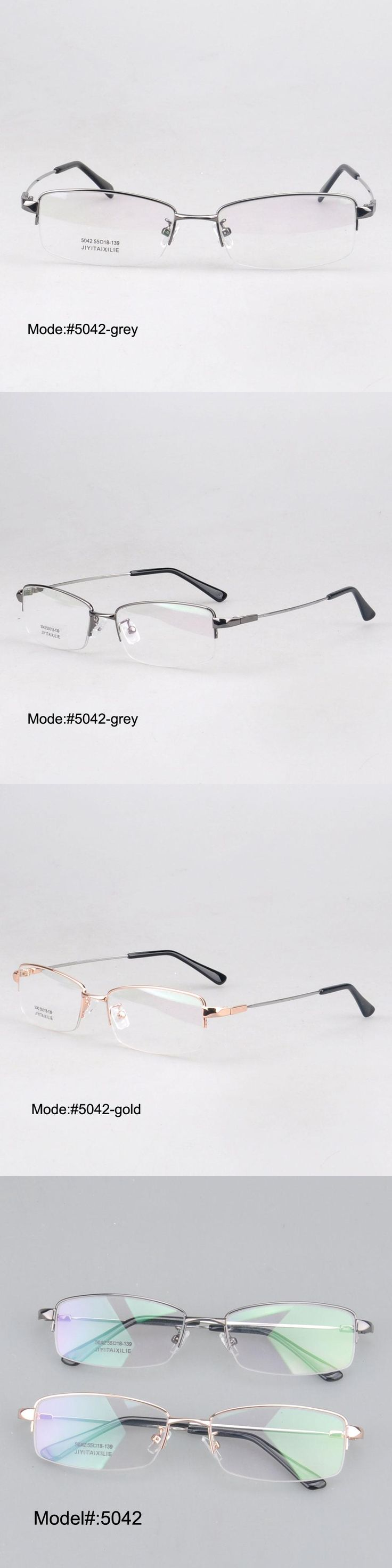 MY DOLI factory price 5042 half rim Memory Titanium Eyeglasses Prescription Spectacle Optical Frame eyewear