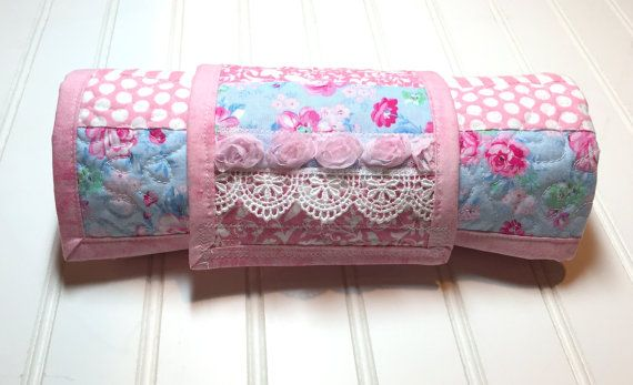 Roses Baby Changing Pad, Travel Changing Pad, Baby changing pad, baby girl quilt - changing mat, diaper changing pad, floral changing pad