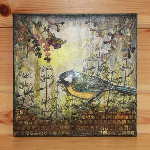 CS161D Janie's Collection –Nature Reserve A5 stamp set designed by Janie Burnett-Bleach for Hobby Art Stamps. This stunning clear set consists of 10 clear stamps. Large designs make it perfect for a card or mixed media project. Use the designs to build up scenes. Canvas by Anna Flanders