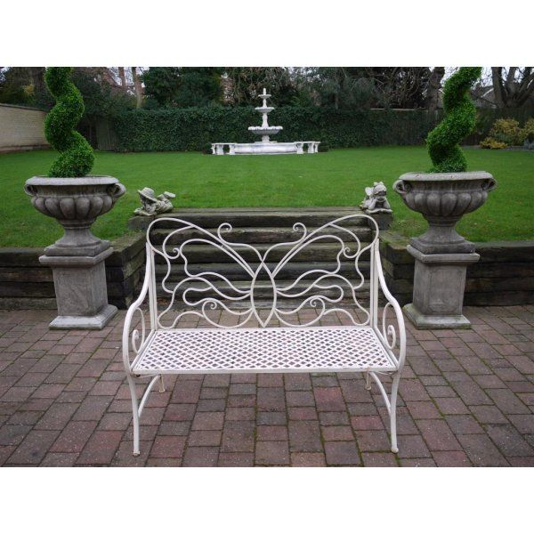 Buy Butterfly Bench | Shabby Chic Outdoor Bench | Swanky Interiors