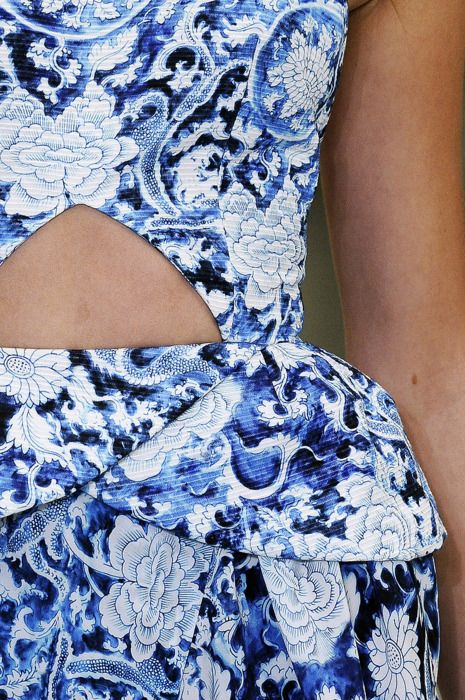 Delft blue dress