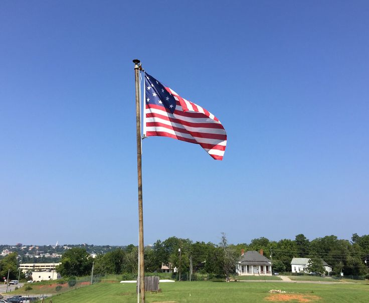 Day 339: Joni's Beautiful Things Challenge. Our Flag Against a Clear Blue Sky. The Stars and Stripes against a clear blue sky always catches my eye. The patriotic part of me is enlivened! This pic was taken today at Fort Hawkins in Macon, Georgia. I am grateful for our freedoms and our land. #jonisbeautifulthingschallenge #flag #patriotism #UnitedStates #FortHawkins #Macon #Georgia