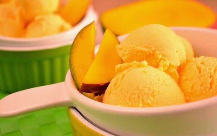Fuente: www.trucosdulces.com   Preparamos para seis raciones   Necesitamos   1 mango maduro grande pelado, sin hueso y cortado en trozos  ...
