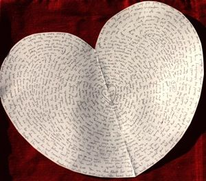 Why I love you DIY: All the reasons, handwritten on a heart shaped card!