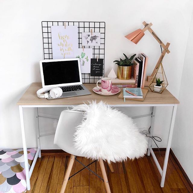 Kmart Scanid Desk Chair And Rose Gold Lamp Via Leerachel Instagram Patio Chairs Diy Decor Home Decor