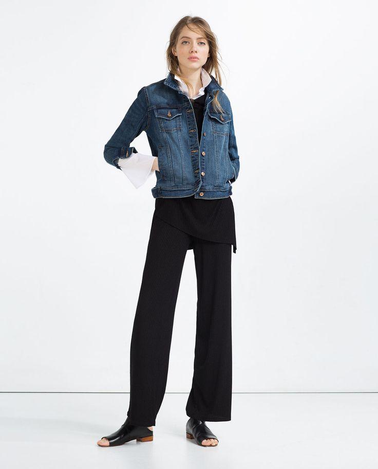 zara damen basic jeansjacke spring clothes pinterest kanada jacken und jeansjacken. Black Bedroom Furniture Sets. Home Design Ideas