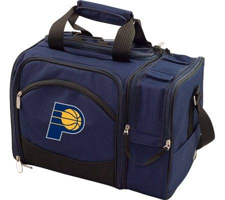 Picnic Time Malibu Indiana Pacers Print  http://allstarsportsfan.com/product/picnic-time-malibu-indiana-pacers-print/  Dimensions: 15″ x 9″ x 11″ Origin: Imported Features of this item include: NBA, Outdoor, Picnic, Polyester