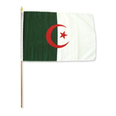 FlagsImporter Algeria Traditional Flag and Flagpole Set