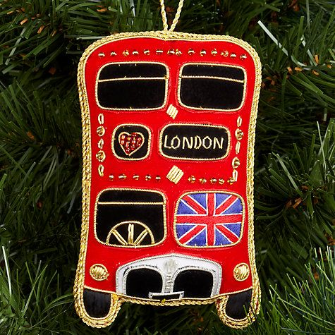 Buy Tinker Tailor Union Jack London Bus Tree Decoration Online at johnlewis.com