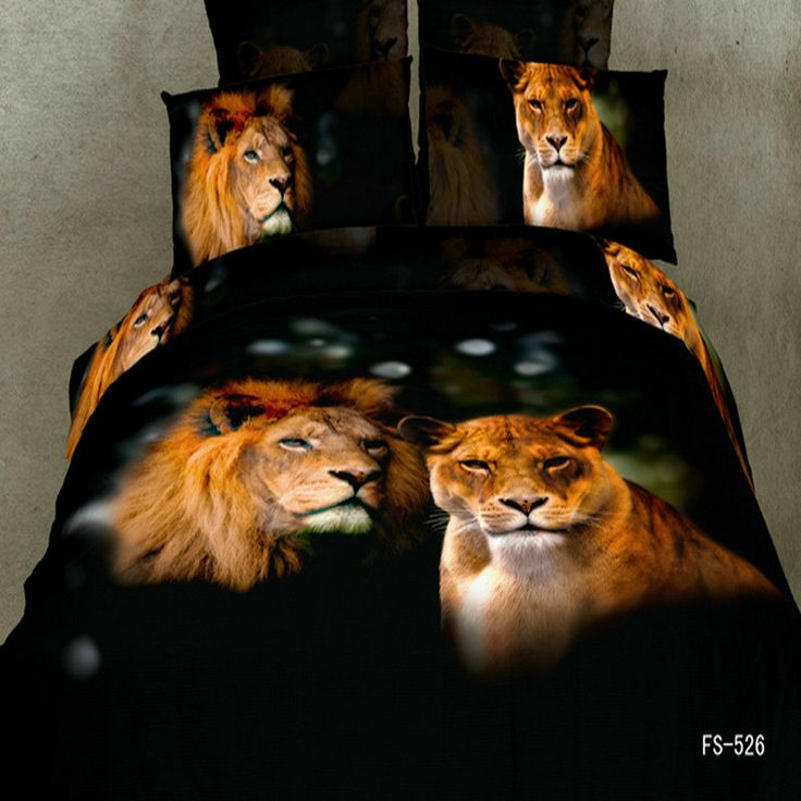 3d Exotic Lion 4pc Bed Set Bed Sets Beds And Lion