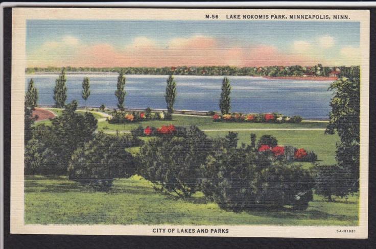 MinneapolisMNLake Nokomis ParkLinen Postcard eBay