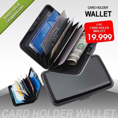 Card Holder Wallet dompet kartu trendi yang dapat menyimpan banyak kartu hanya Rp 19.999 http://groupbeli.com/view.php?id=355