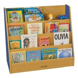 ECR4Kids Colorful Essentials Book Display Stand https://www.schooloutfitters.com/catalog/product_info/pfam_id/PFAM10787/products_id/PRO26632