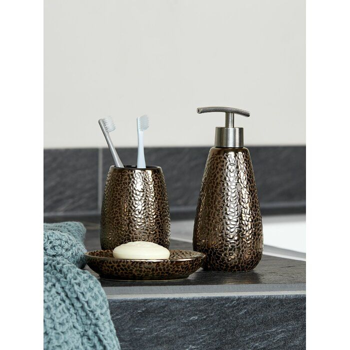 Kristine 3 Piece Bathroom Accessory Set In 2020 Bathroom Accessories Sets Bathroom Accessories Toothbrush Tumbler