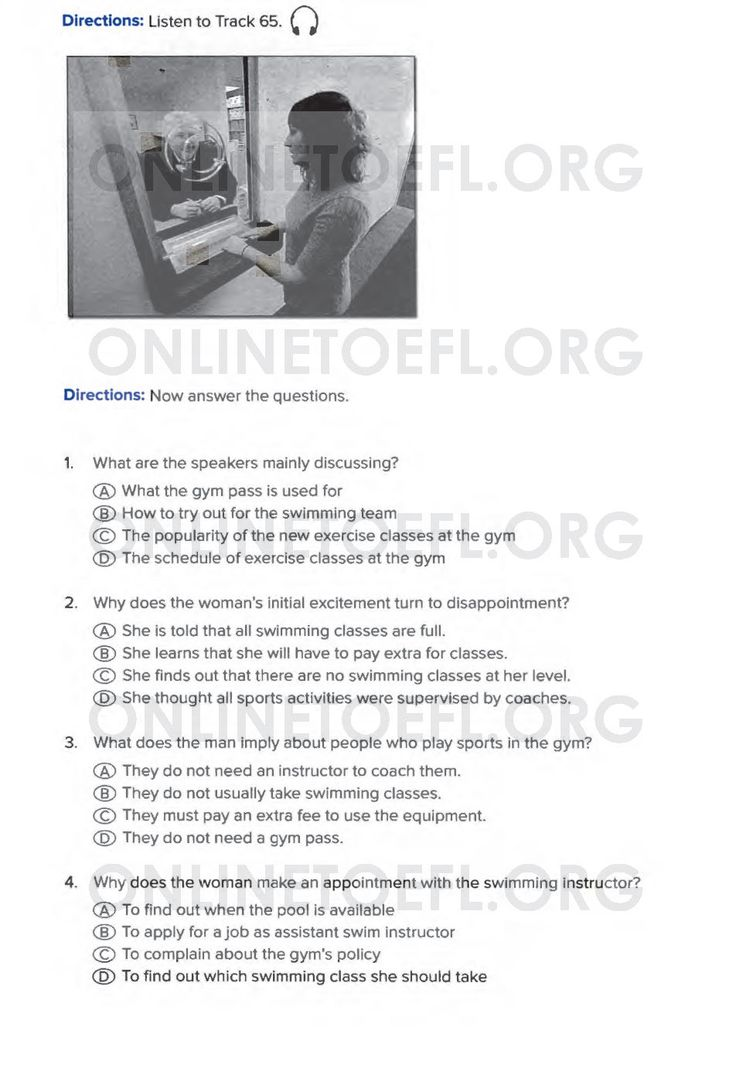 Aşağıda TOEFL sınavı online hazırlık kursu uzmanı Dr. Hikmet Şahiner ile TOEFL hazırlık kursu online deneme listening test soruları test 1 listening part 1 soruları bulunmaktadır.