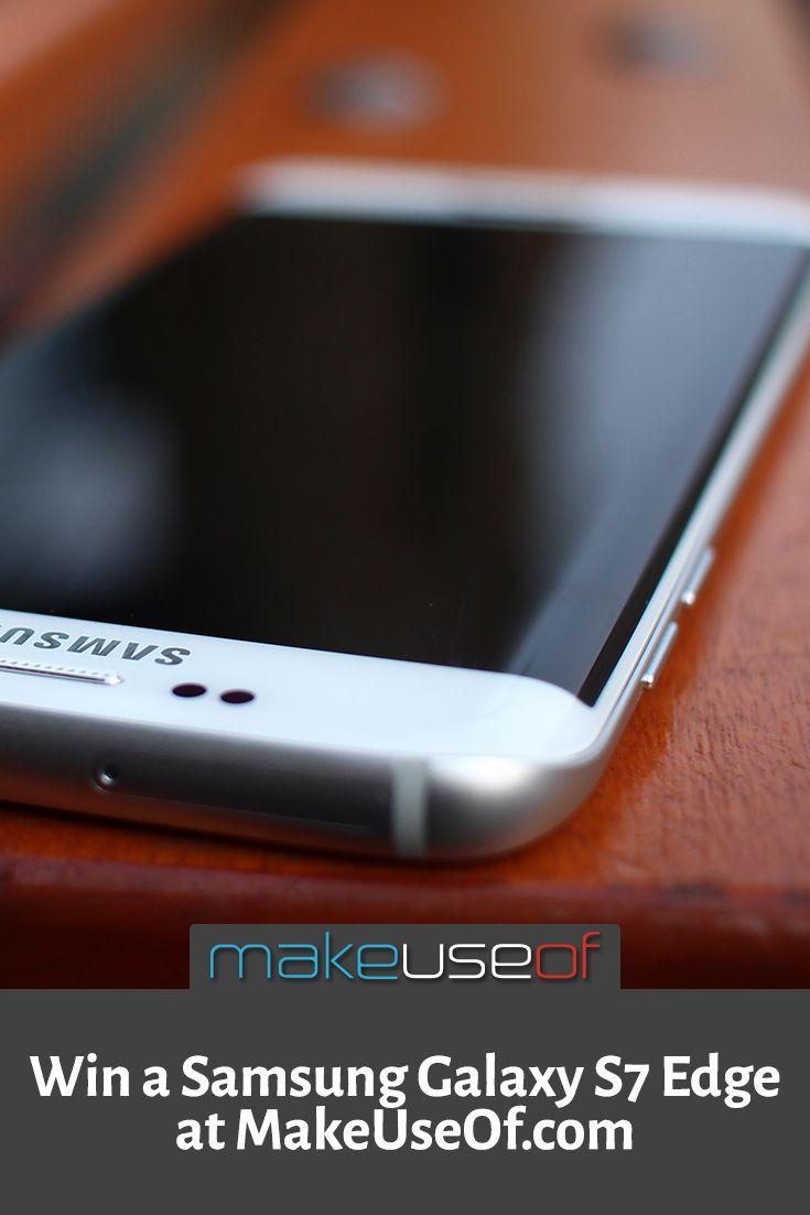 Enter to win a Samsung Galaxy S7 Edge from MakeUseOf.com
