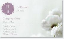 blossom feminine Premium Business Cards